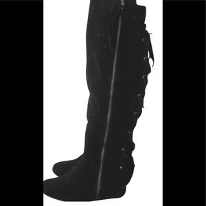 Baby phat thigh high boots